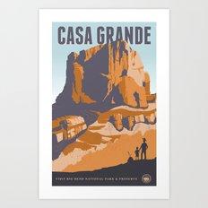 Big Bend Travel Poster Art Print