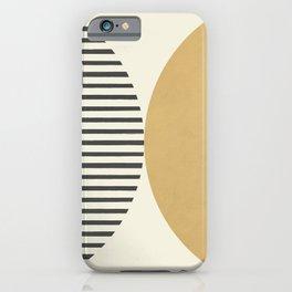 Semicircle Stripes - Gold iPhone Case