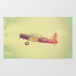 Retro Antique Fighter Plane // Airplanes Rug