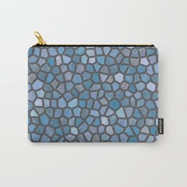 Blue Mosaic Pattern - Dark Carry-All Pouch