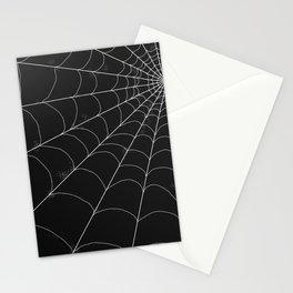 Spiderweb on Black Stationery Cards