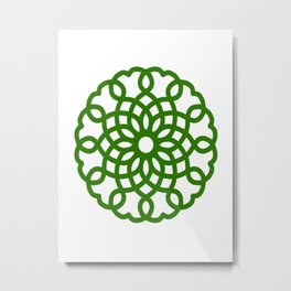 Celtic Heart Pattern Metal Print