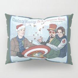Superheroic Seasons Greetings (Chestnuts Roasting) Pillow Sham