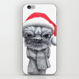 Christmas Ostrich red G145 iPhone Skin