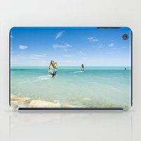 surfing iPad Cases featuring Surfing by Chiara Cattaruzzi