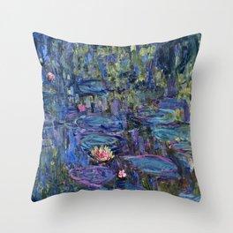 Claude Monet - Nympheas Throw Pillow