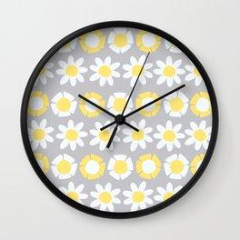 Peggy Yellow Wall Clock
