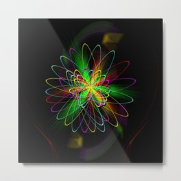 Abstract in Perfection - Magic of the rings Metal Print