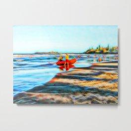 Surf Rescue on beautiful beach Metal Print