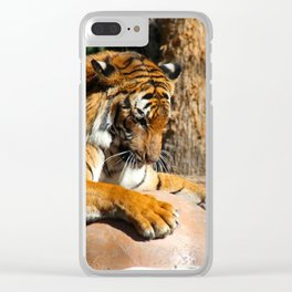 The Tiger Triumphant Clear iPhone Case