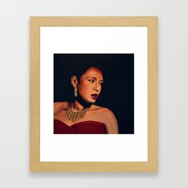 Billie Holiday Painting Framed Art Print