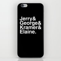 seinfeld iPhone & iPod Skins featuring Seinfeld Jetset by Bill Pyle