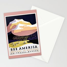 See America Montana travel ad Stationery Cards