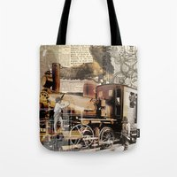 industrial Tote Bags featuring Industrial by victorygarlic - Niki