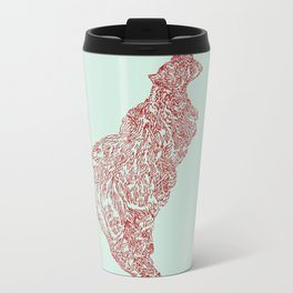'Inheritance' (5 of 6). Original ink drawings re-coloured in Photoshop. (Other colourways available) Metal Travel Mug