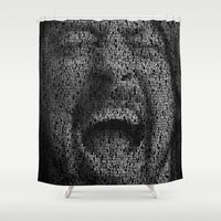 dave grohl Shower Curtains featuring Dave Grohl. Best Of You by Robotic Ewe