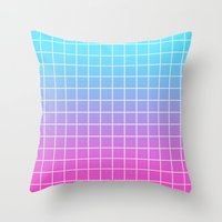 gradient Throw Pillows featuring Gradient by aesthetically