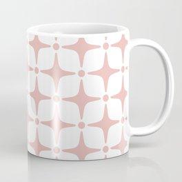 Mid Century Modern Star Pattern Dusty Rose Coffee Mug