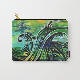green and blue Carry-All Pouch