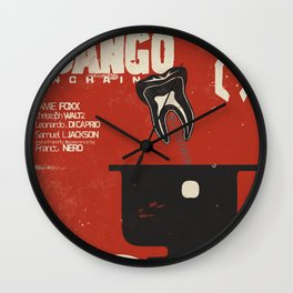Django Unchained, Quentin Tarantino, alternative movie poster, Leonardo DiCaprio, Jamie Foxx Wall Clock