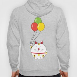 Fat Cat with Balloons Hoody