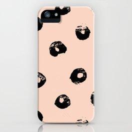 black & pale peach /geometric series 2 iPhone Case