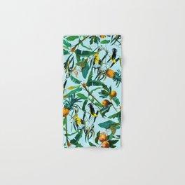 Fruit and Birds Pattern Hand & Bath Towel