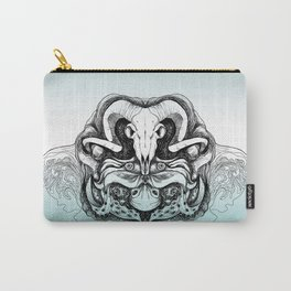 Skull Composition Carry-All Pouch