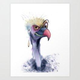 Funny Vulture Art Print