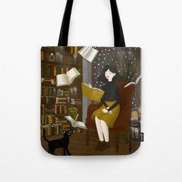 floating books Tote Bag