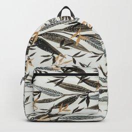 Black Gold Leaves Backpack