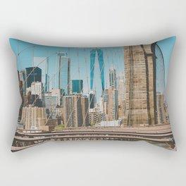The Bridge in New York City (Color) Rectangular Pillow