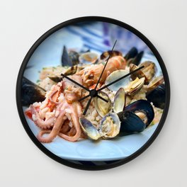 Seafood risotto Wall Clock