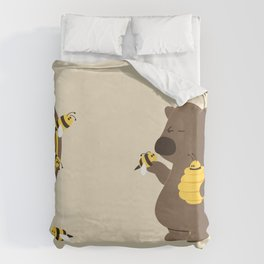 Bee game Duvet Cover