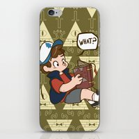gravity falls iPhone & iPod Skins featuring Dipper Pines - Gravity Falls by BlacksSideshow