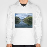 norway Hoodies featuring Rondane - Rondevannet  Norway by AstridJN