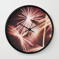 ruby Wall Clocks featuring ruby by Ingrid Beddoes