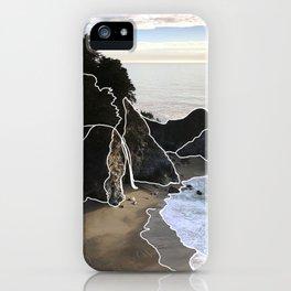 Line Series - McWay Falls, Big Sur, CA iPhone Case