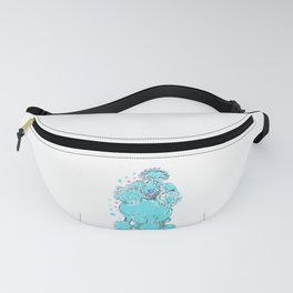 The happy POODLE Love of My Life - your Poo Poo dog keeps you smiling! Fanny Pack