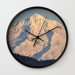 Twilight Over Mount Hood Wall Clock