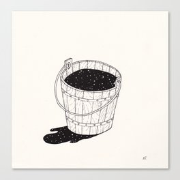 bucket of milk Canvas Print