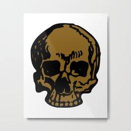 Brown Pirate Skull, Vibrant Skull, Super Smooth Super Sharp 9000px x 11250px PNG Metal Print