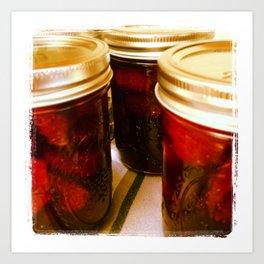 Home Made Strawberry Jam Art Print