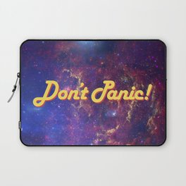 Don't Panic! in Friendly Yellow Laptop Sleeve