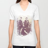 vampire diaries V-neck T-shirts featuring The Vampire Diaries TV Series by Nechifor Ionut