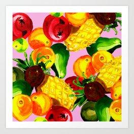 Fruitbowl loco Art Print