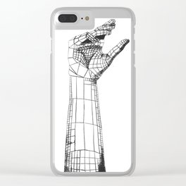 Planar Hand Clear iPhone Case