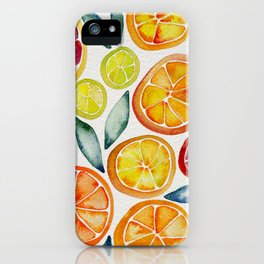 Sliced Citrus Watercolor iPhone Case