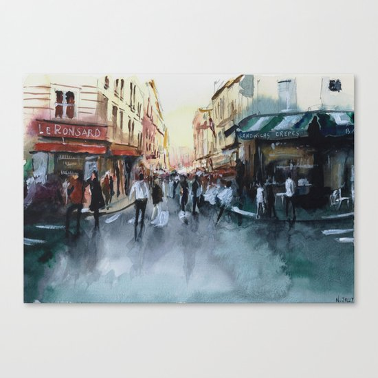 PARIS Street - Painting Canvas Print