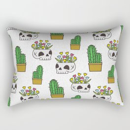 Sugars Skulls and Cactus Rectangular Pillow